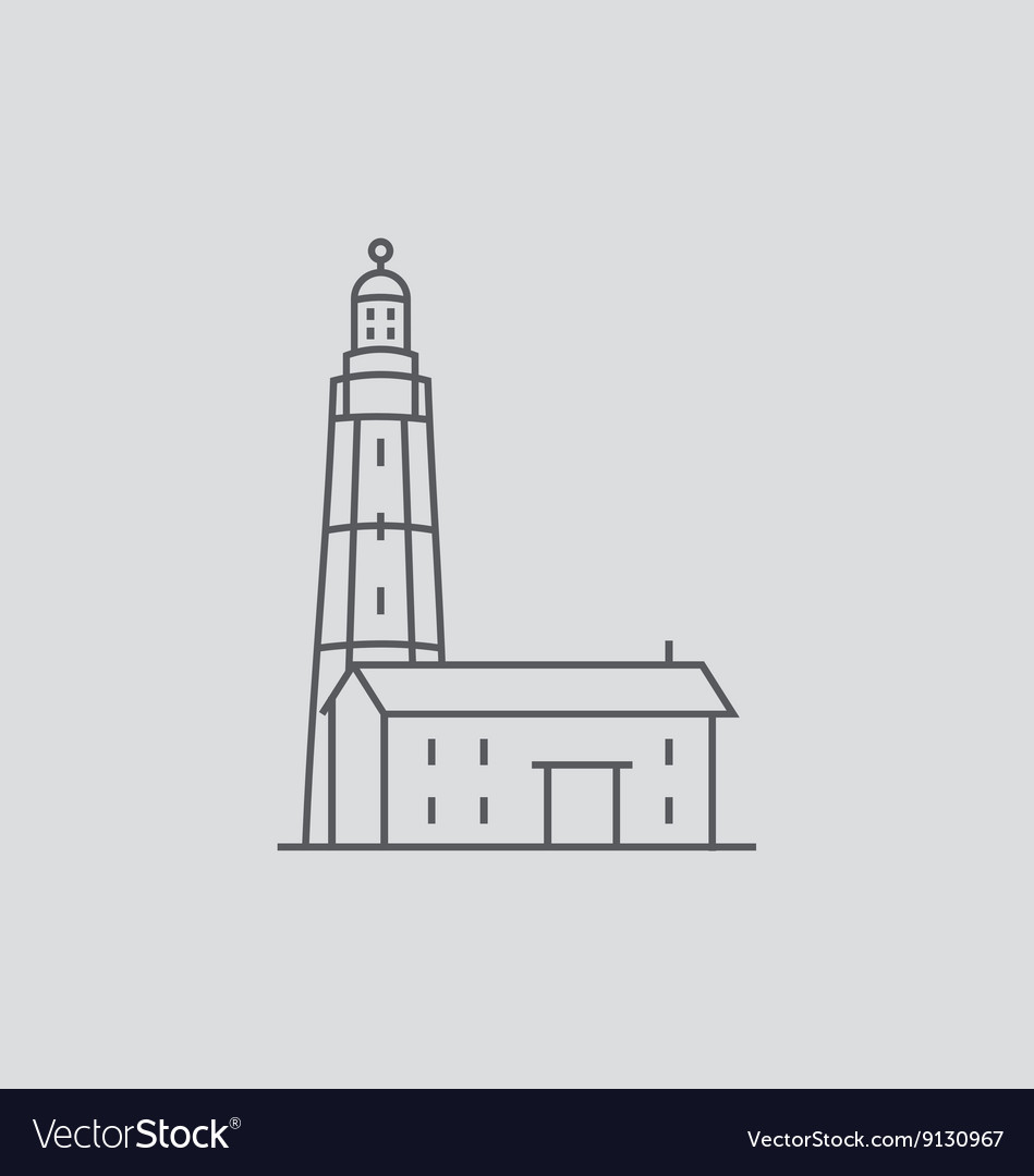 Montauk Point Lighthouse vector image