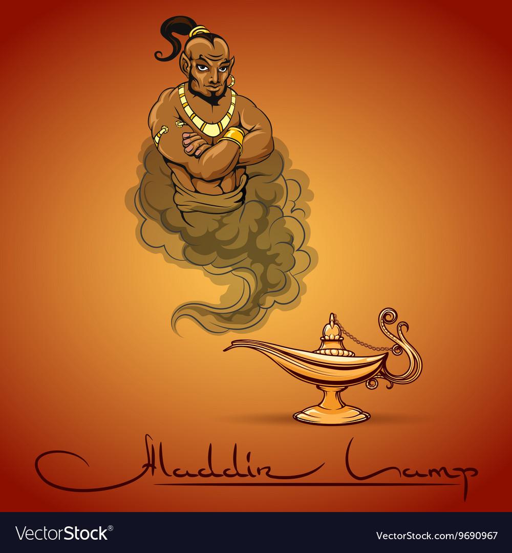 Oriental tale of genie