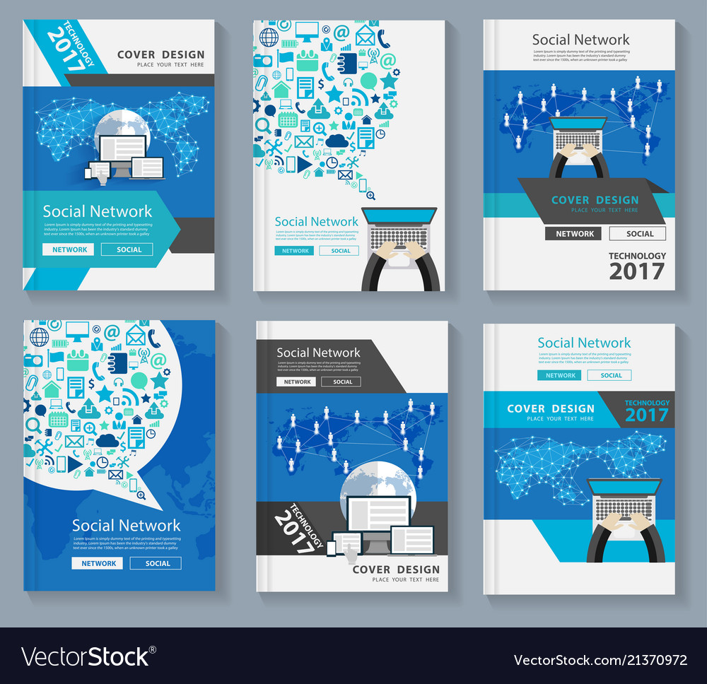 Business magazine cover layout design with