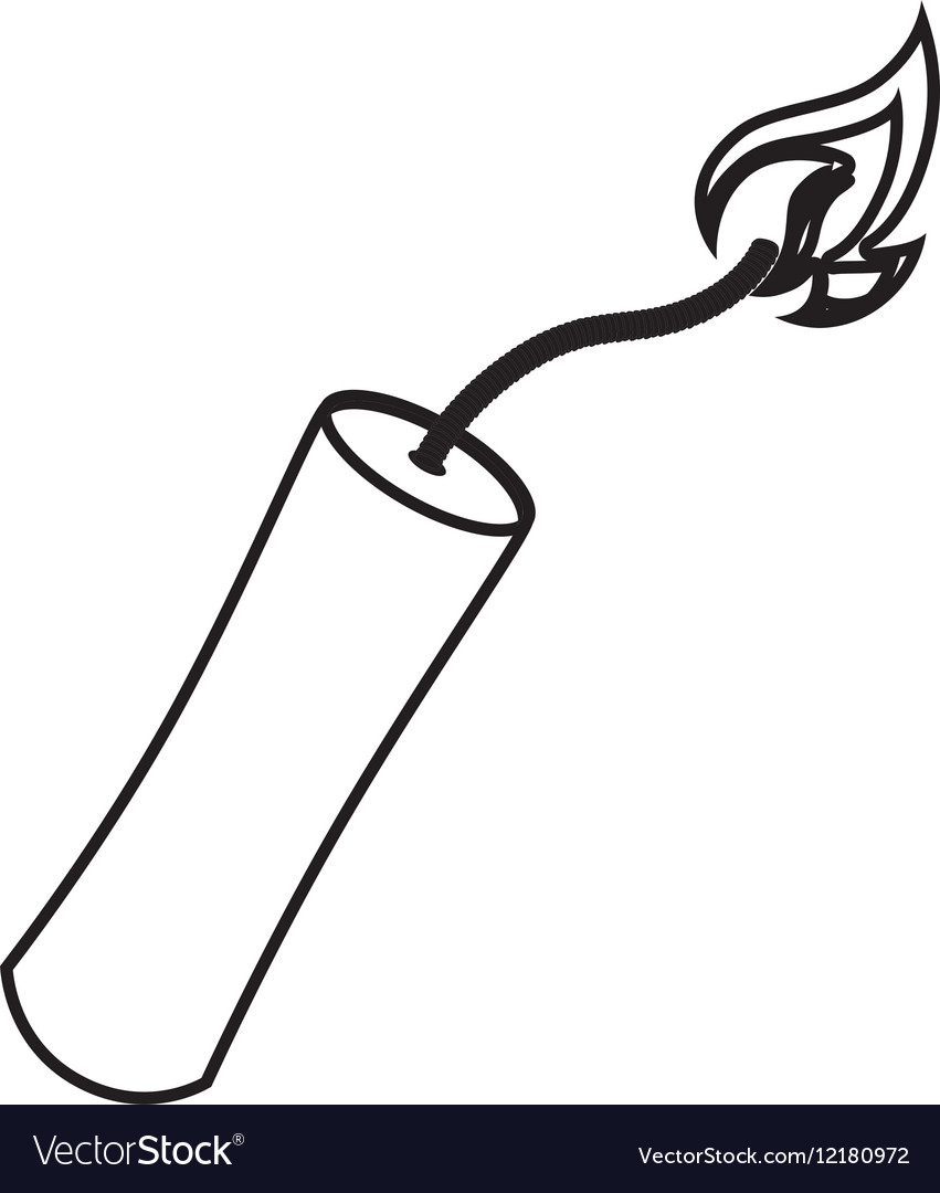 Dynamite stick isolated icon vector image