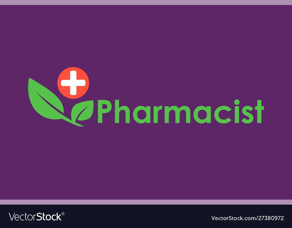 Green pharmacy logo template