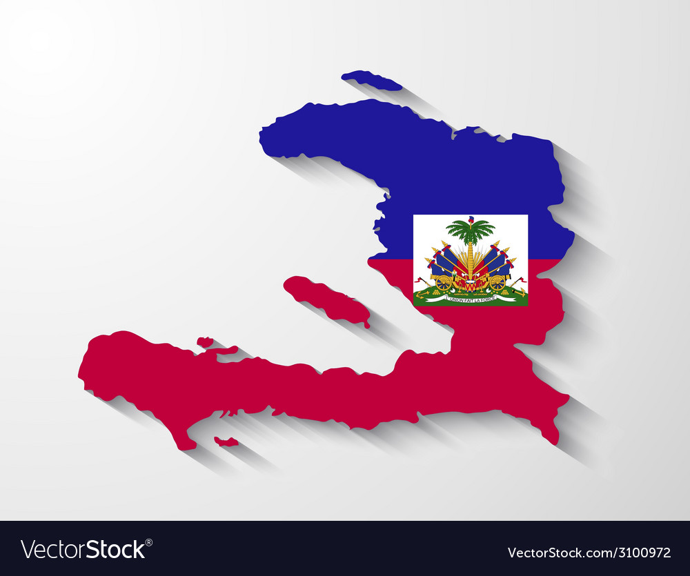 Haiti country map with shadow effect royalty free vector haiti country map with shadow effect vector image gumiabroncs Images