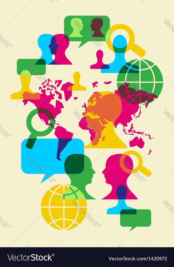 Social Network Communication Symbols Royalty Free Vector