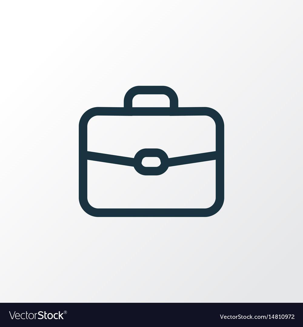 Suitcase outline symbol premium quality isolated