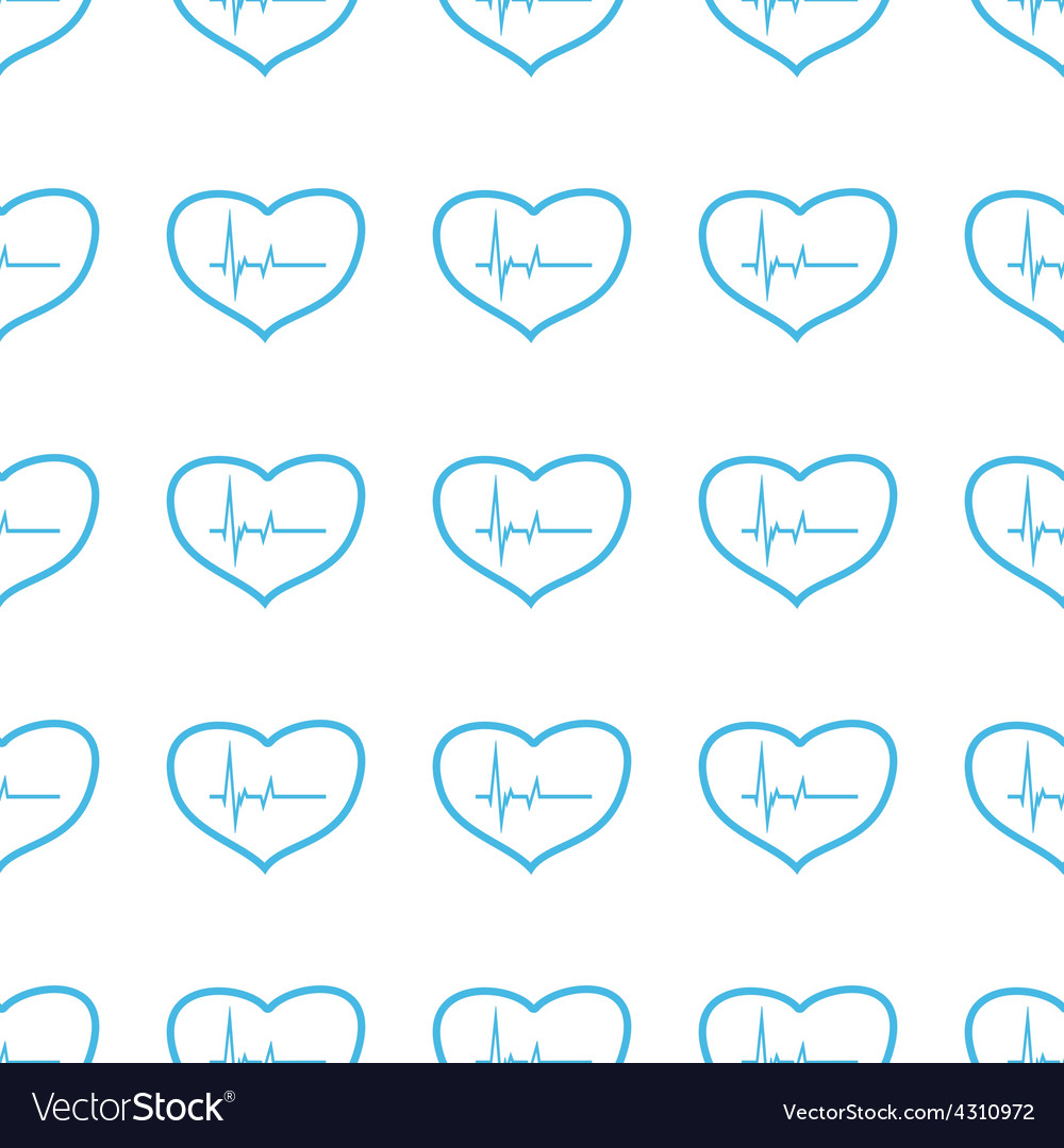 Unique Heartbeat seamless pattern