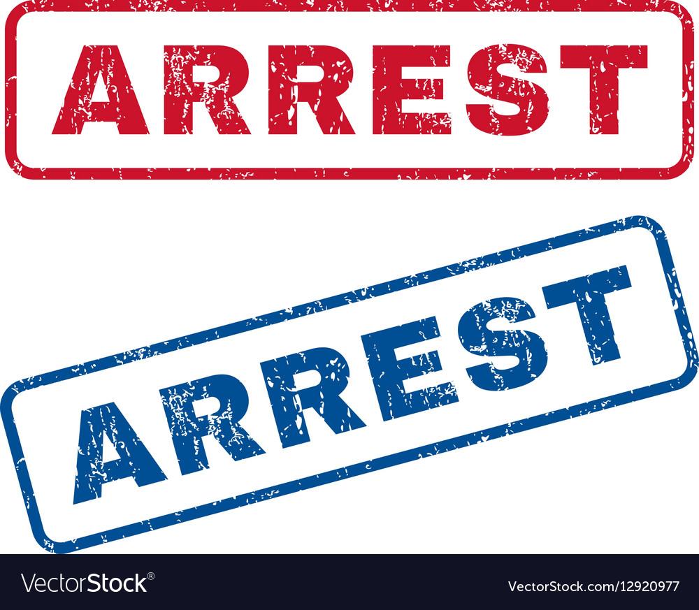 Arrest Rubber Stamps
