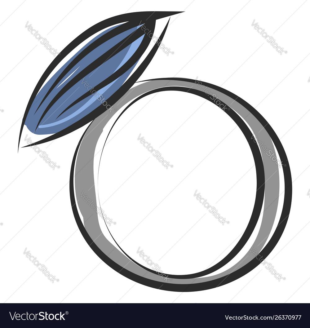 Blue ring on white background