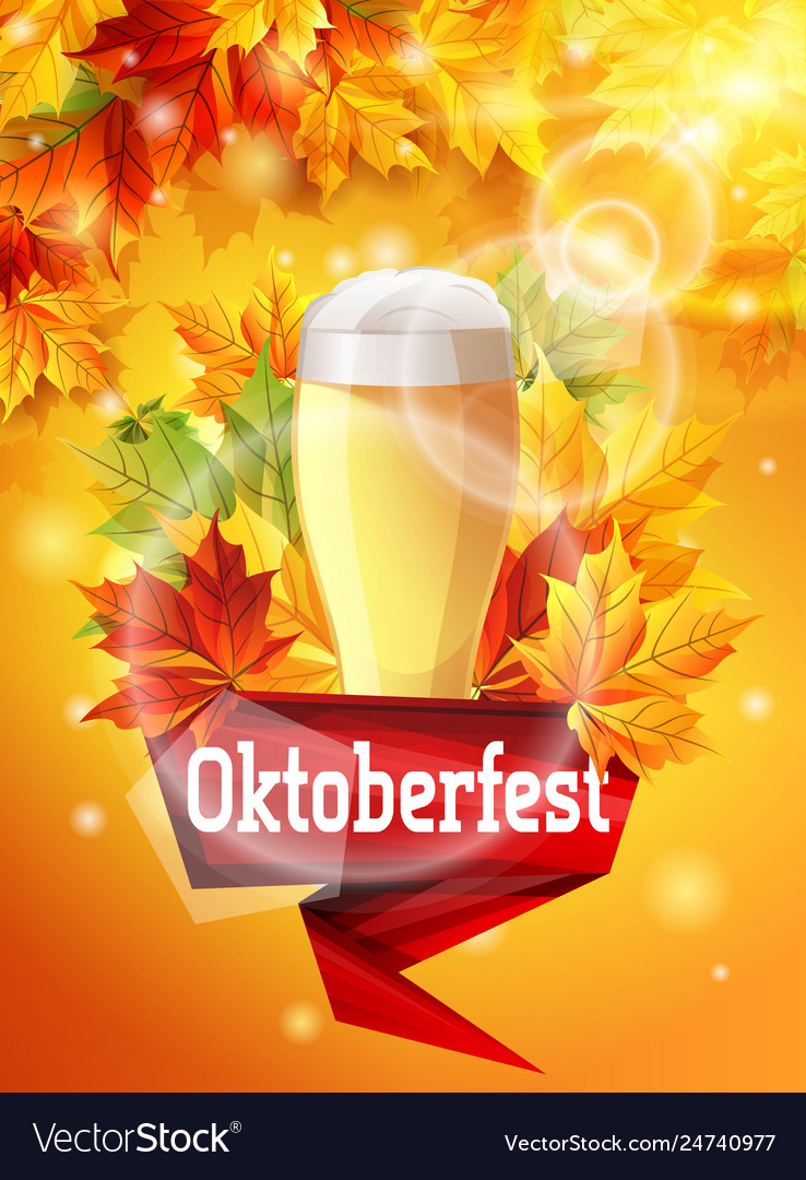 Bright poster for beer party oktoberfest