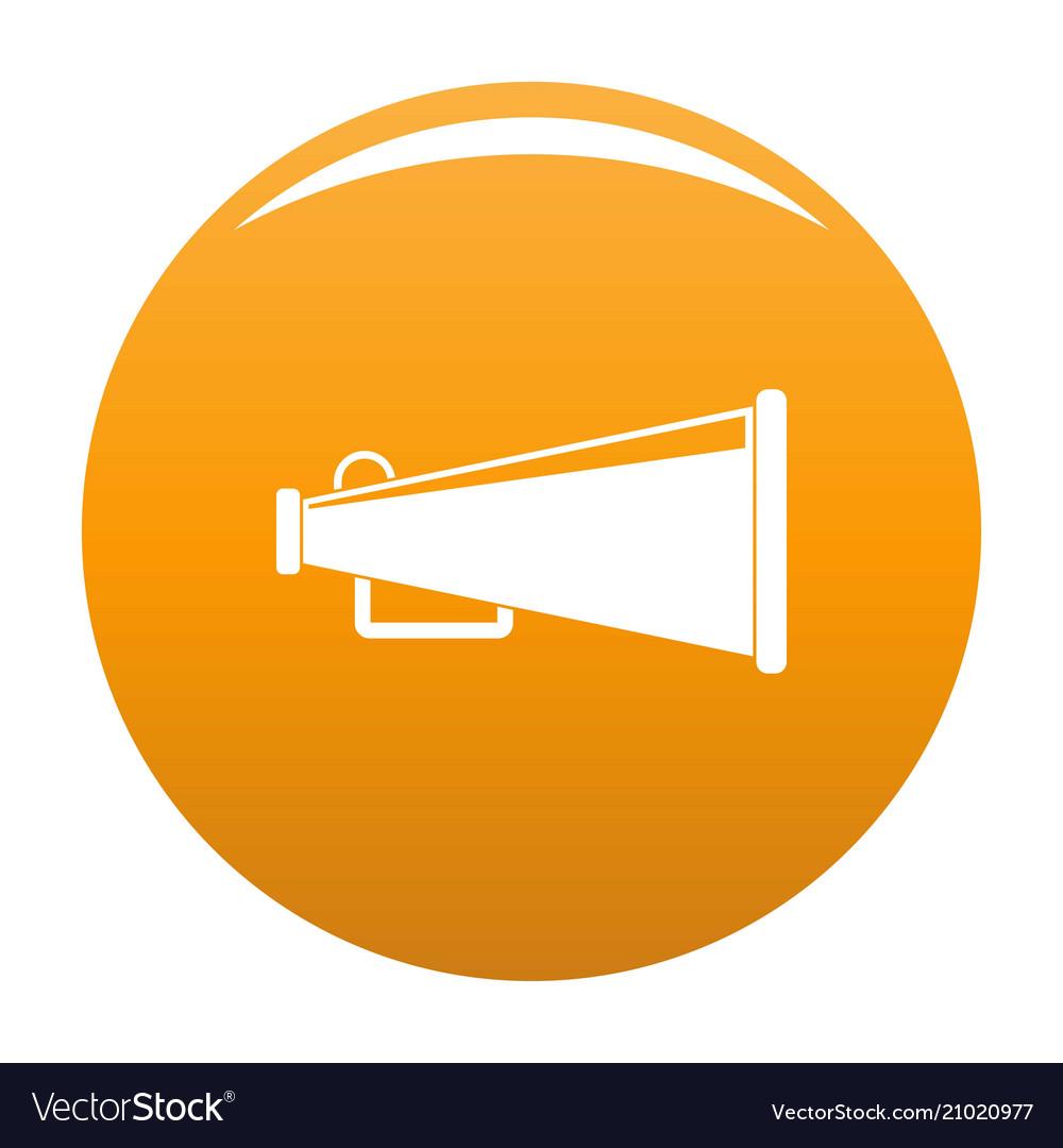 Bullhorn icon orange royalty free vector image bullhorn icon orange vector image publicscrutiny Gallery