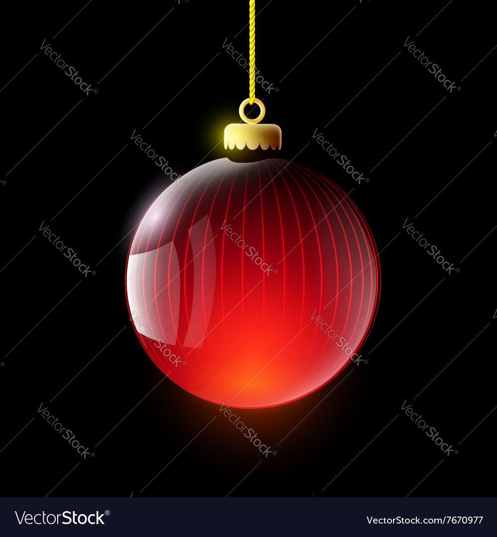 Christmas ball Stock vector image