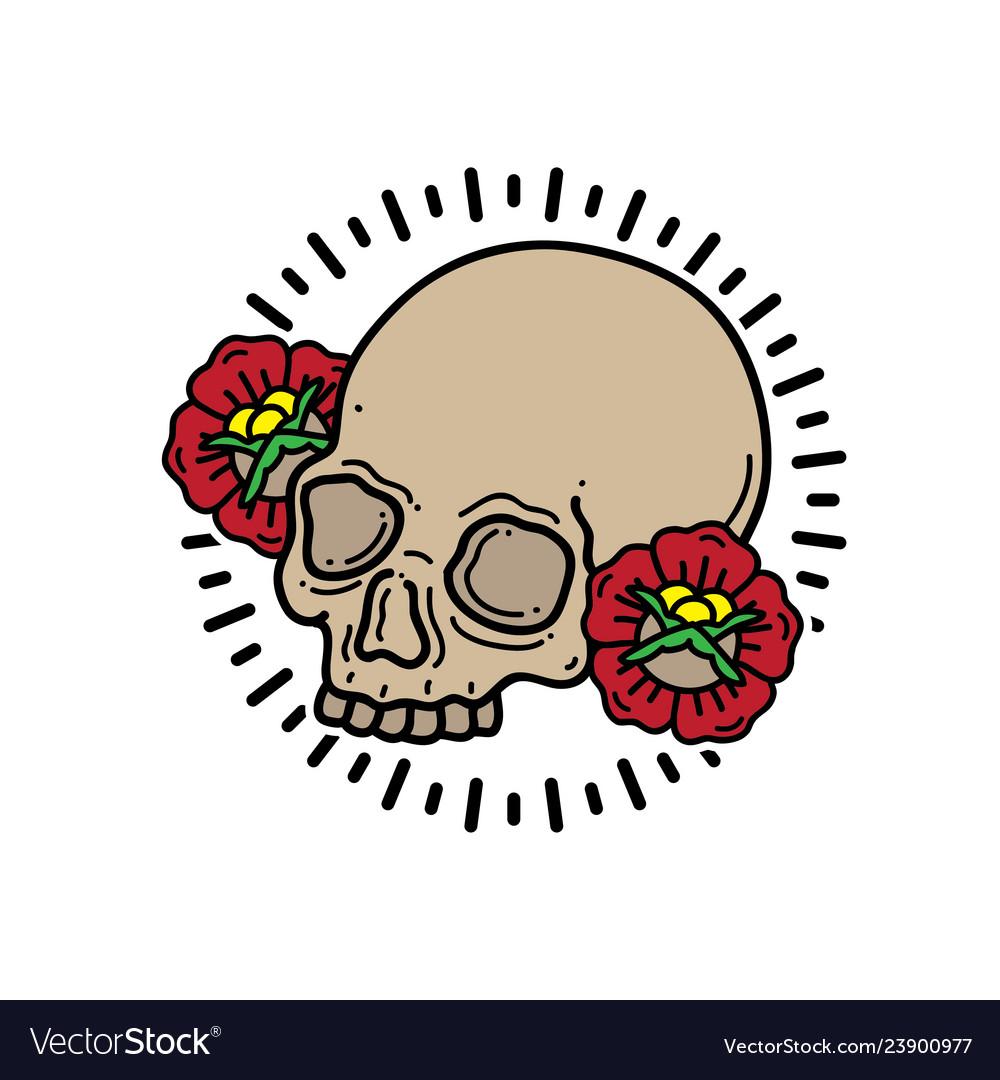 Design t-shirt head skull