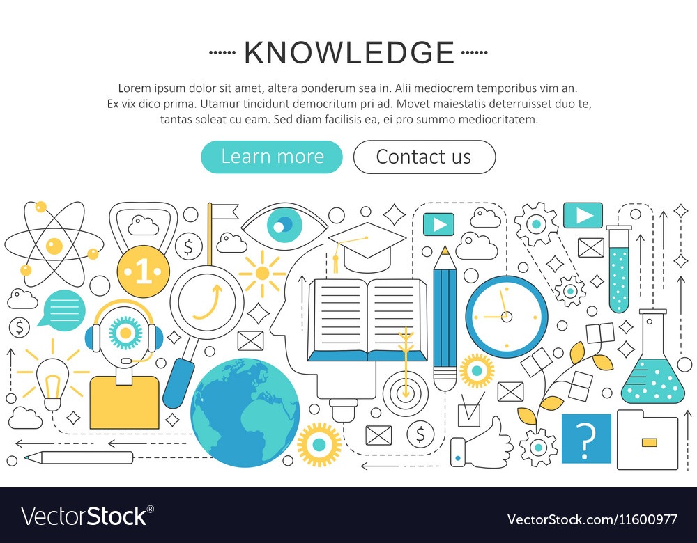Elegant thin line flat modern Knowledge