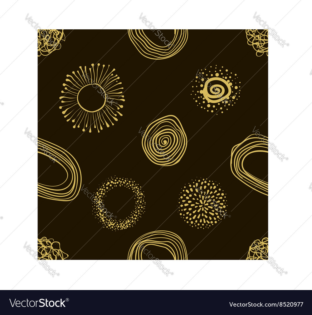 Fabric circles abstract seamless pattern