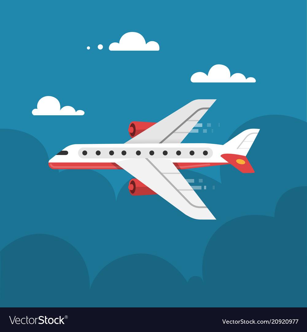 Flat airplane