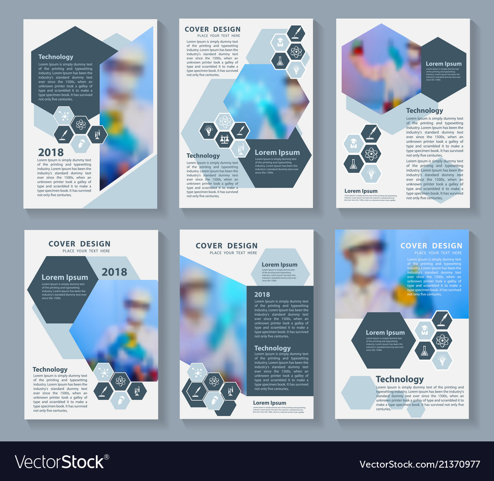 flyer cover business brochure magazine design vector image