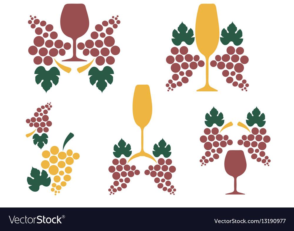 Grape Wine Glass Decoration