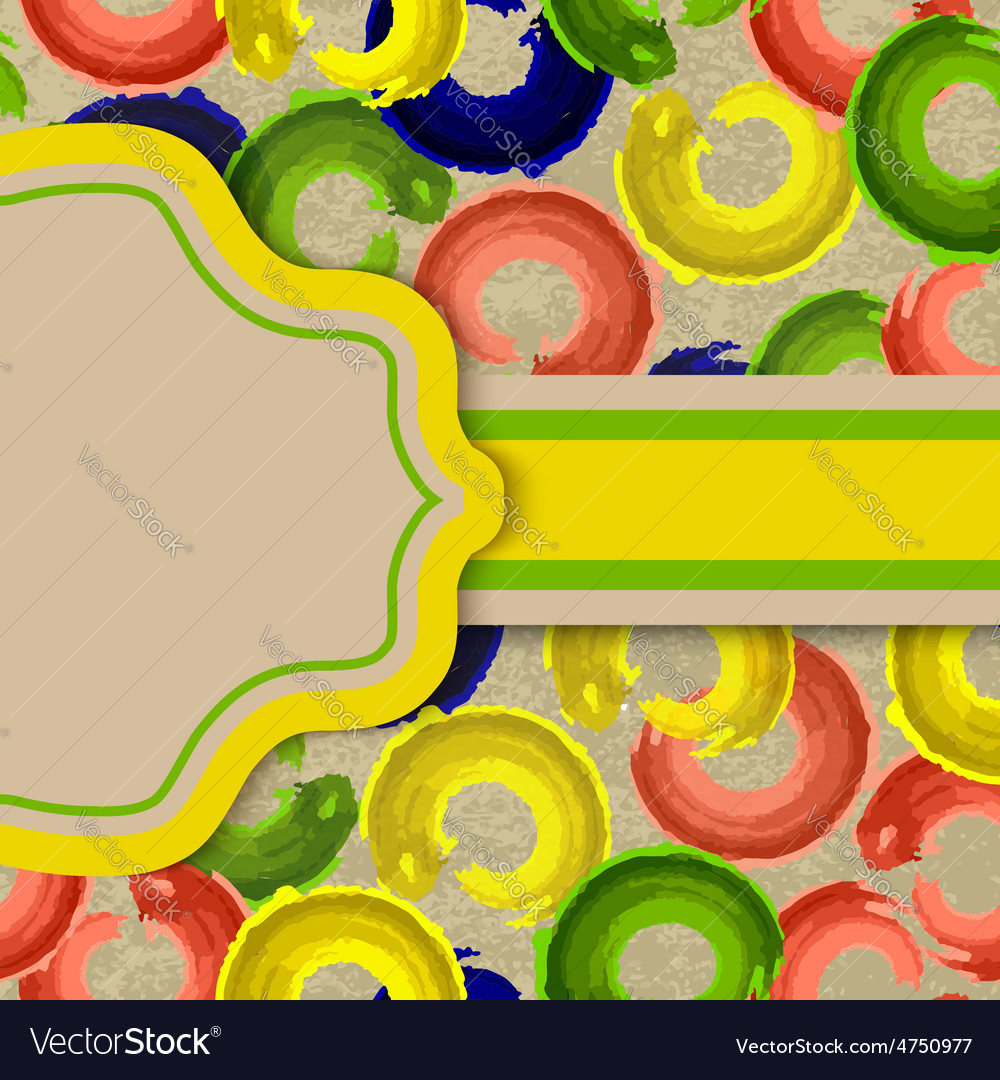 Grungy bright card or invitation vector image