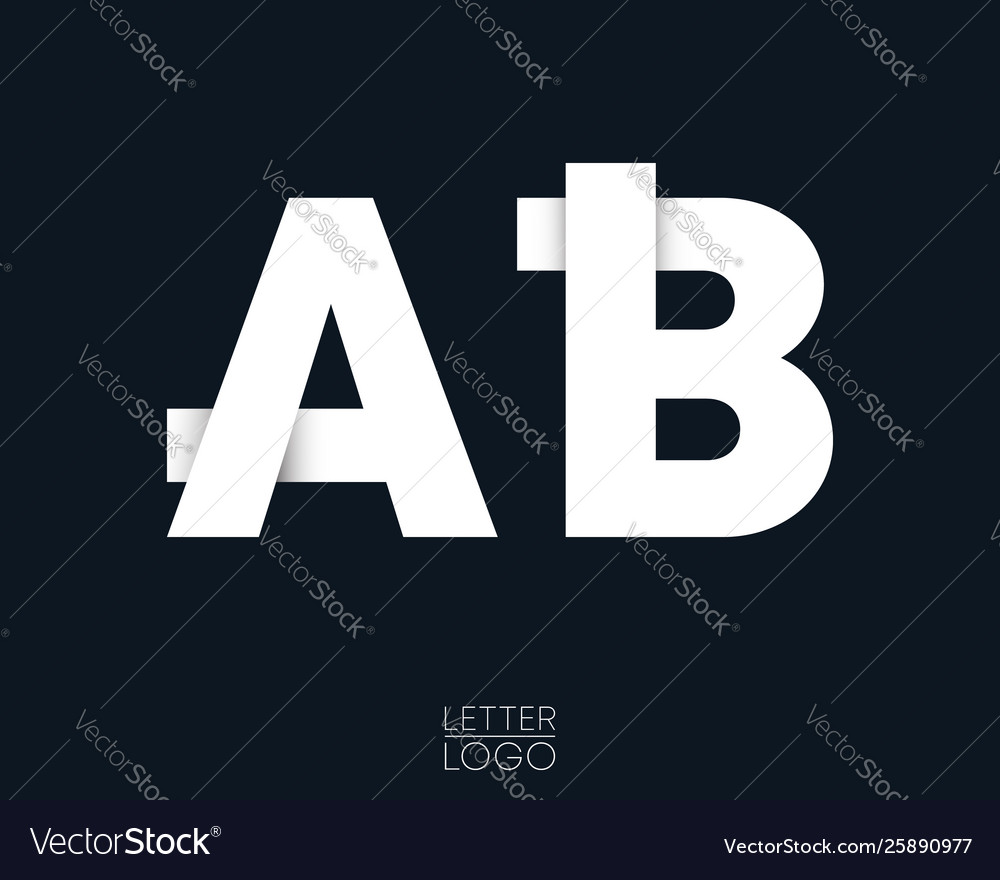Letter a and b template logo design