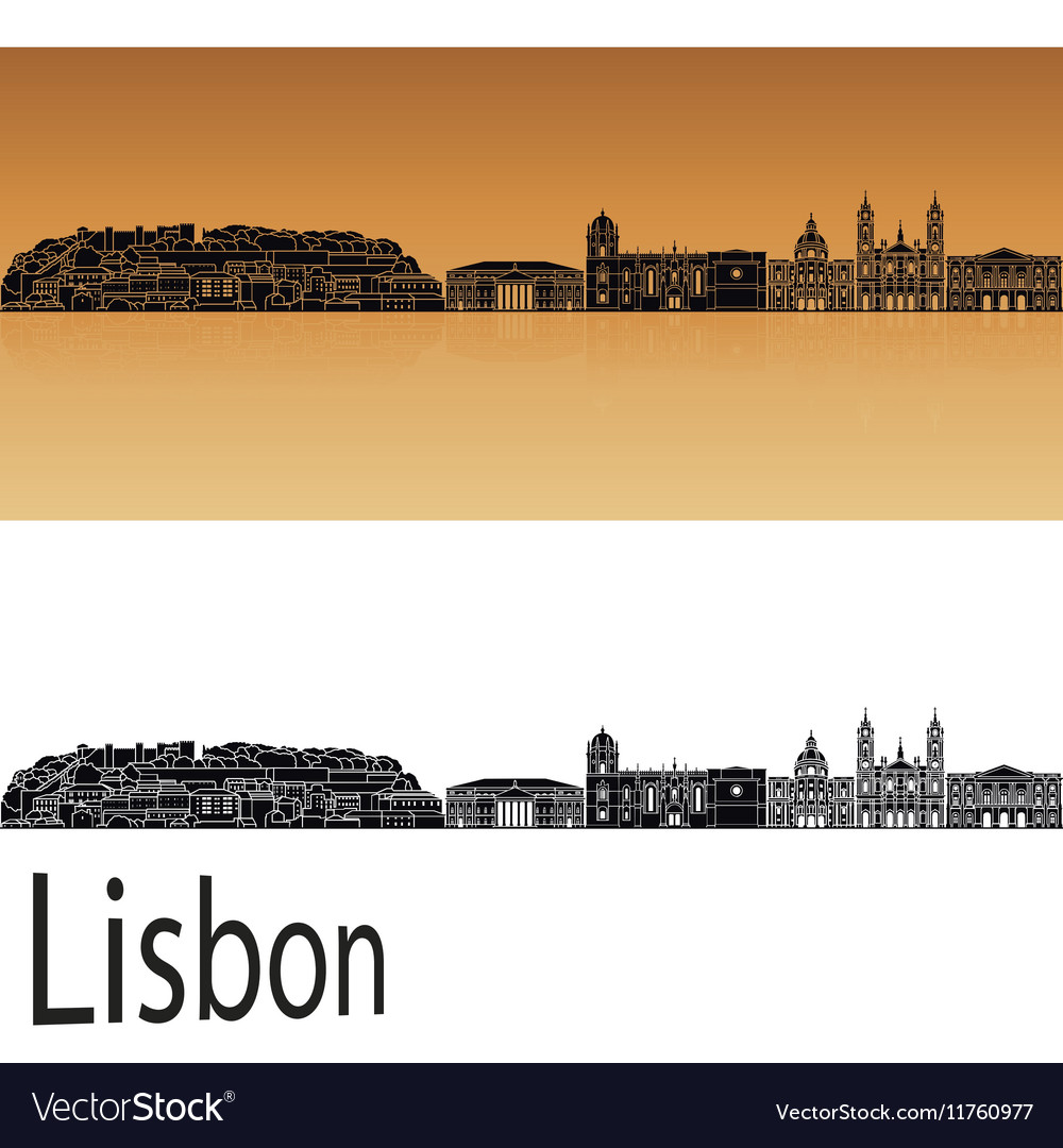 Lisbon V2 skyline in orange