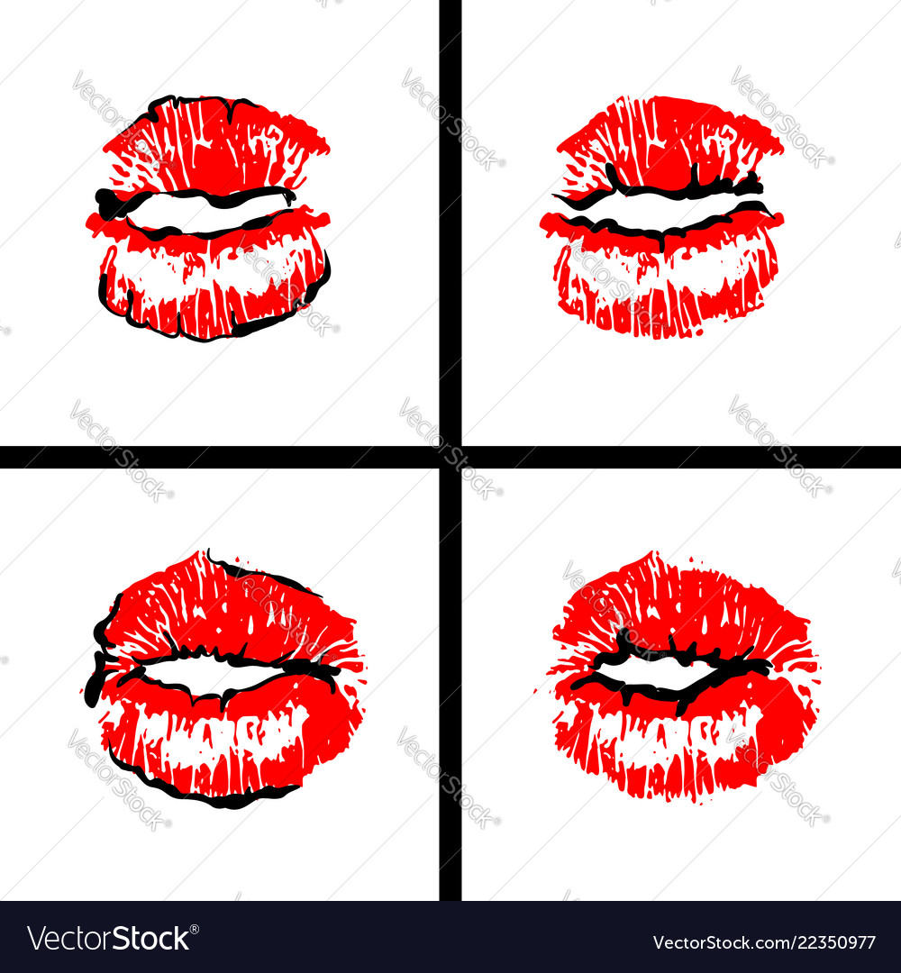 Open mouth woman lips tongue pop art style