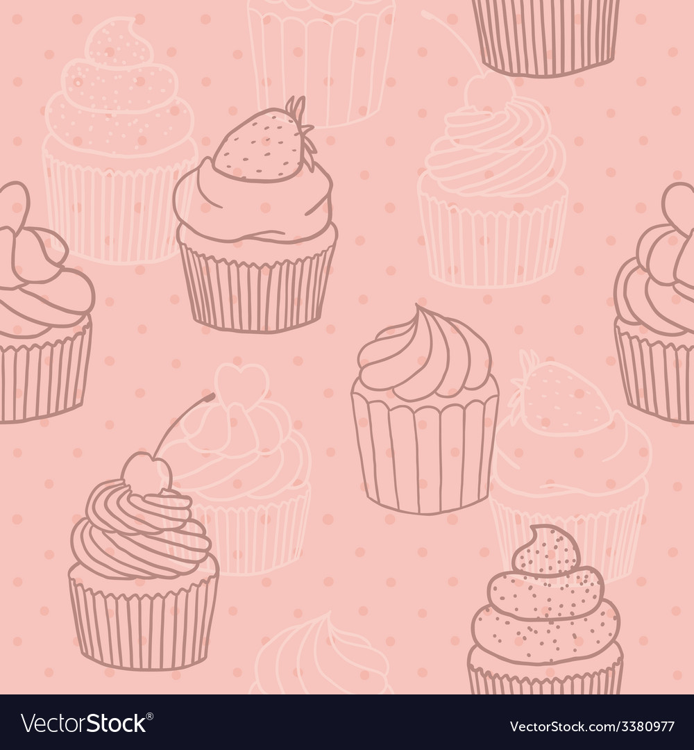 Pink cupckes pattern