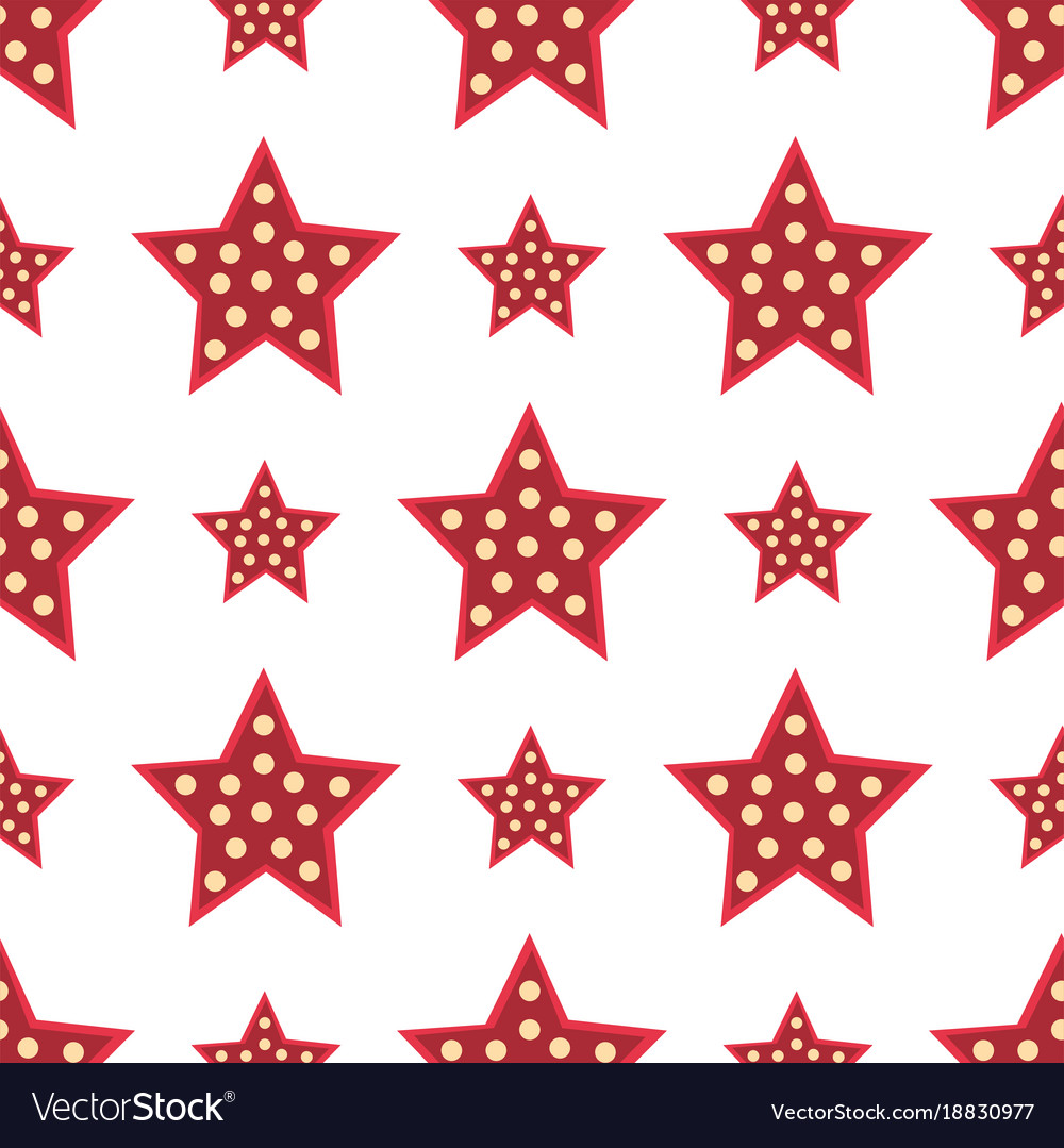 Stars Red Decorative Modern Print Wallpaper