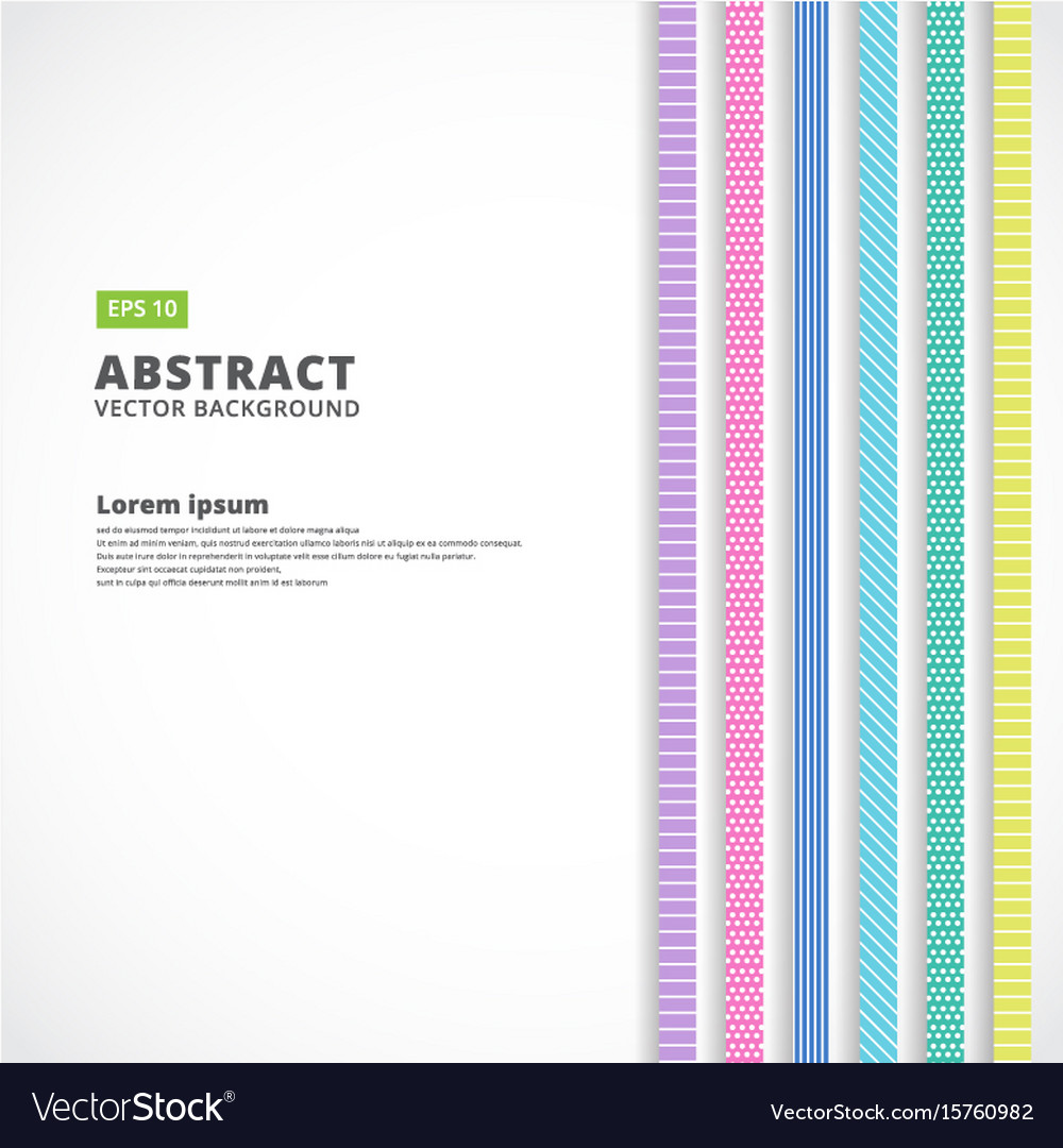 Abstract vertical line pastel color retro style