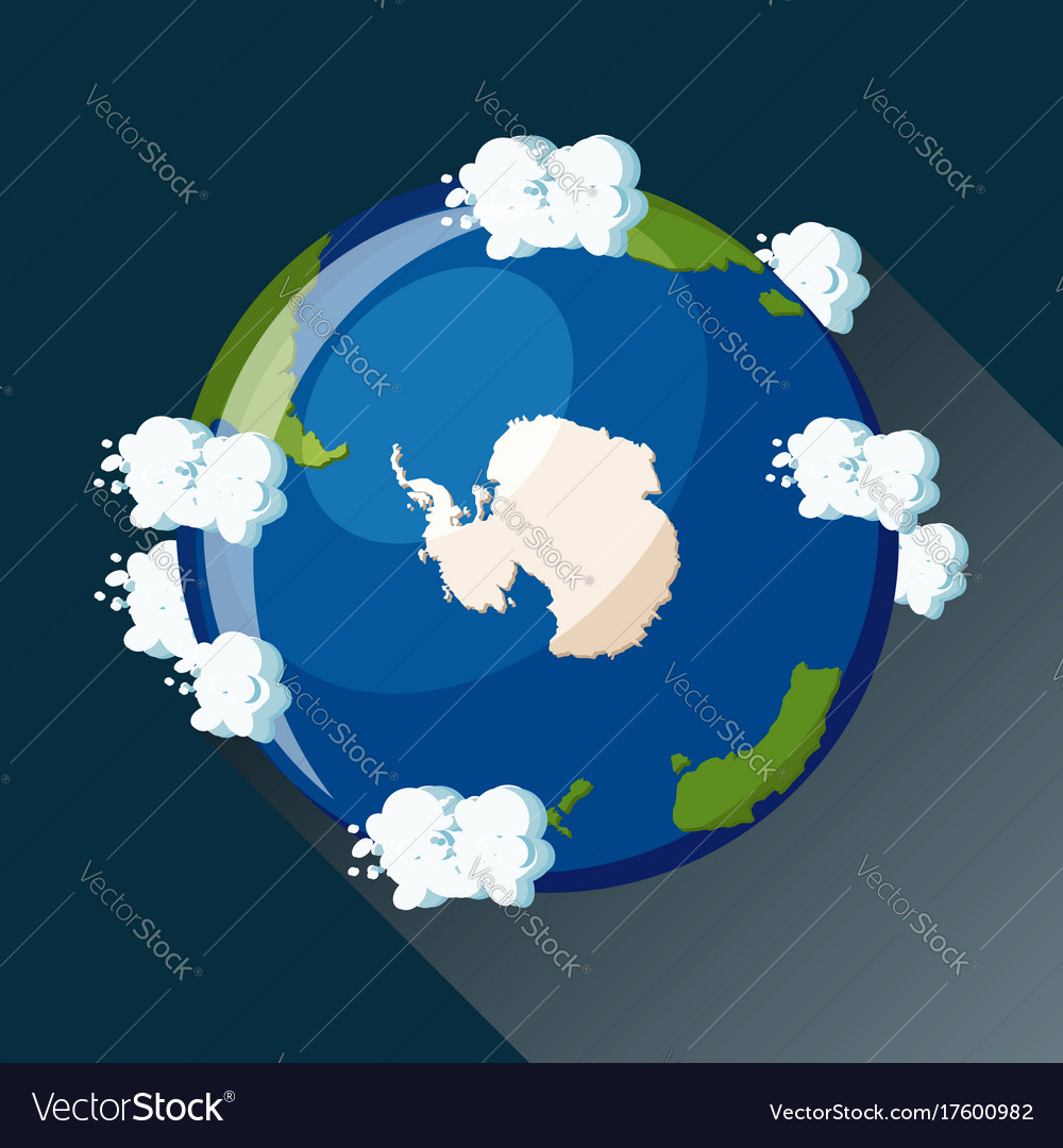 Antarctica map on planet earth view from space vector image gumiabroncs Images