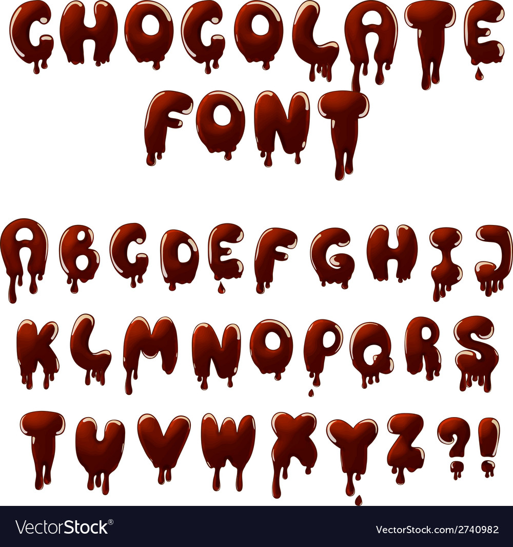 Chocolate font vector image
