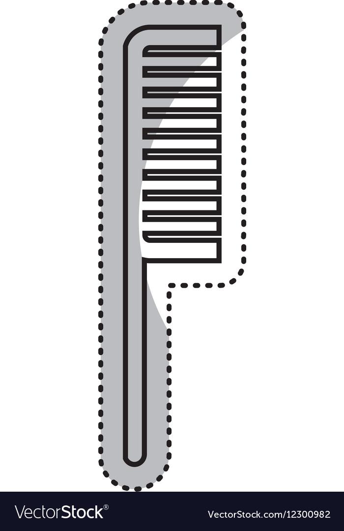 Comb female isolated icon