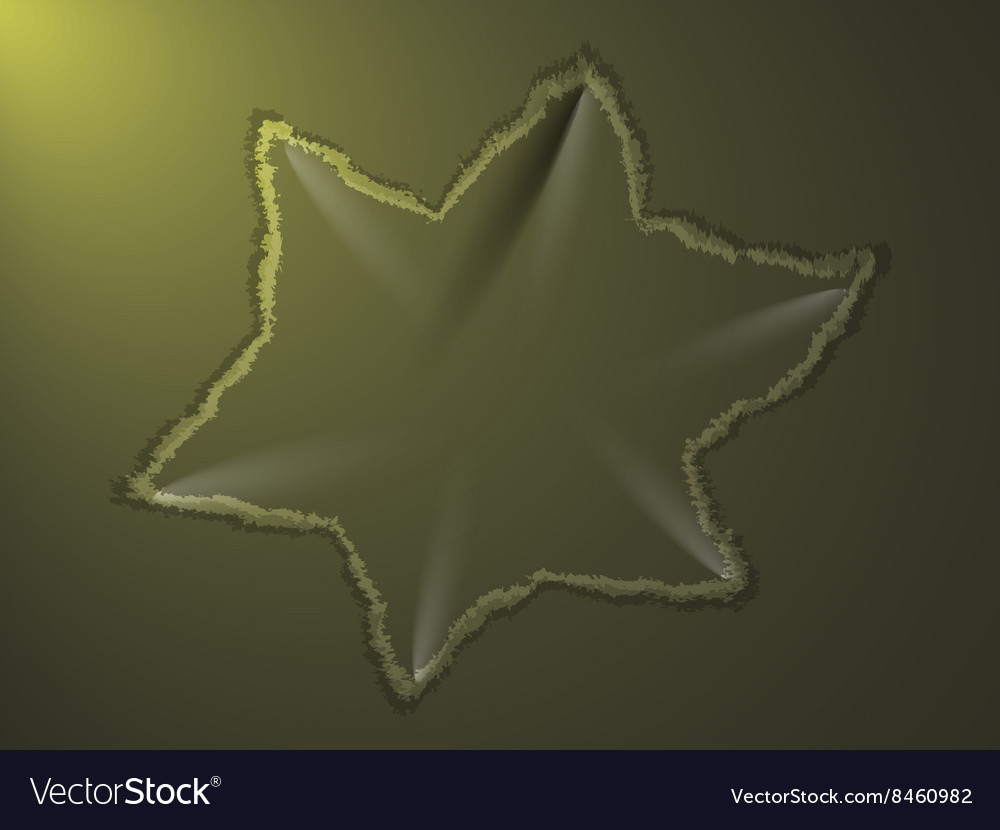 Dent on metal plate vector image