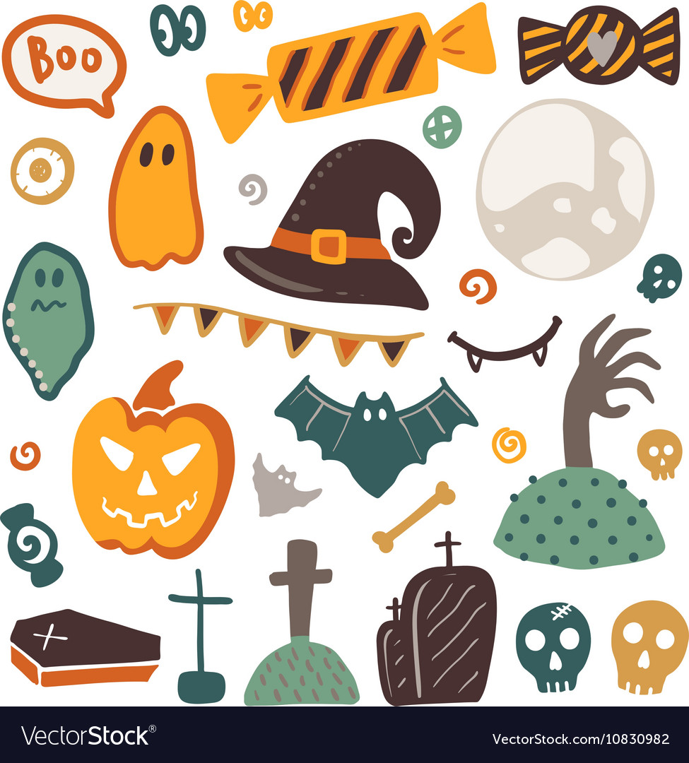 Halloween isolated elements collection