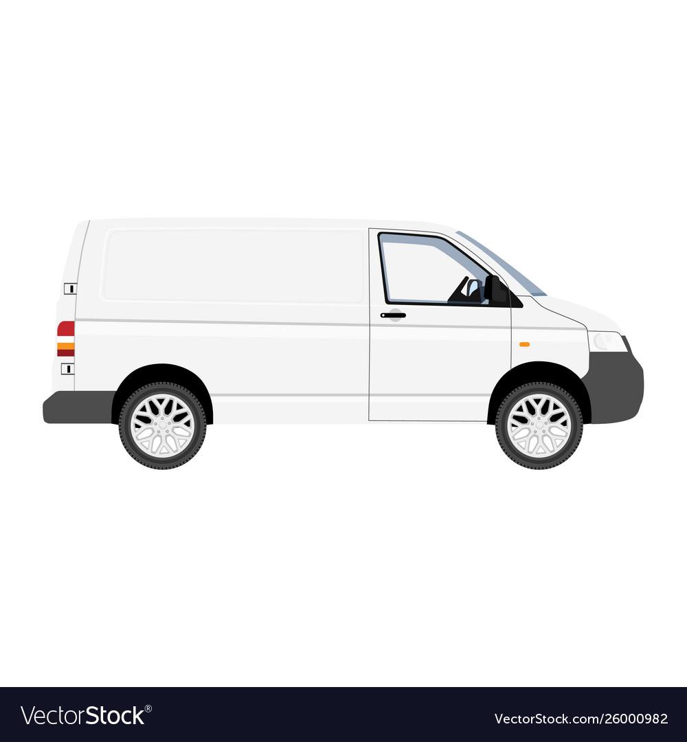 Hi-detailed cargo delivery van template