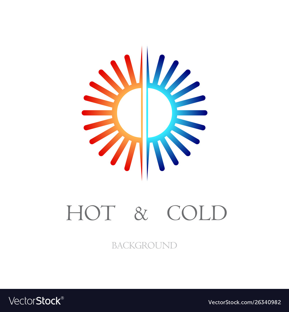 Hot and cold white background