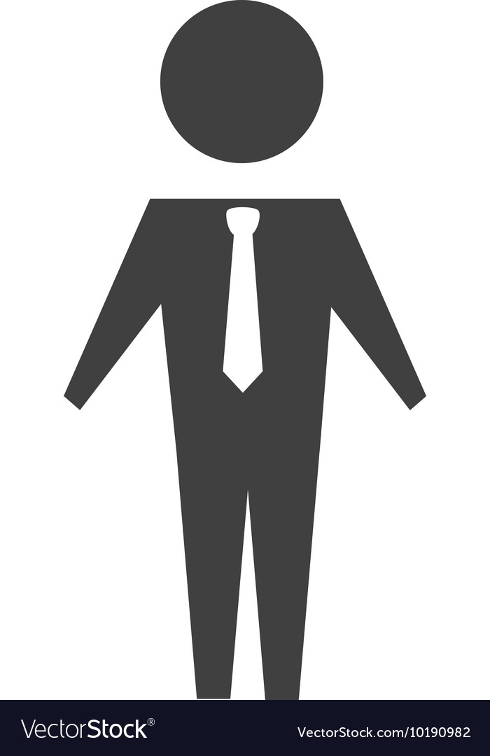Man suit tie business icon graphic