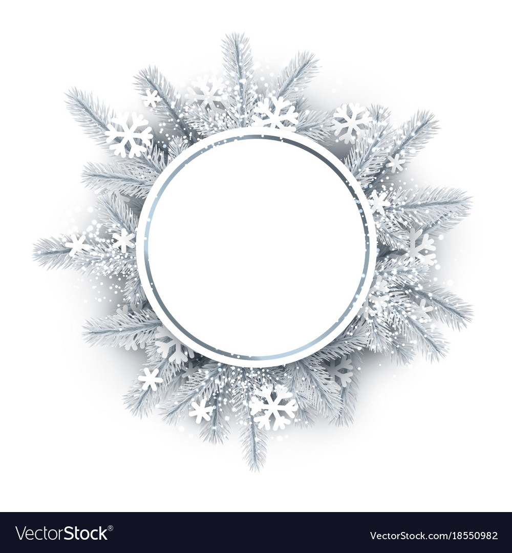 innovative design 3ba9f 548c6 Round background with white christmas wreath