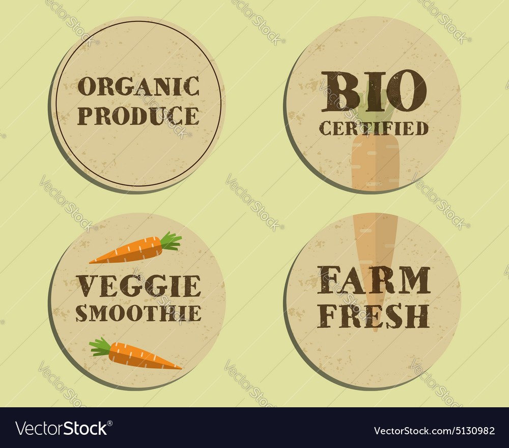 Stylish Farm Fresh label template with carrot