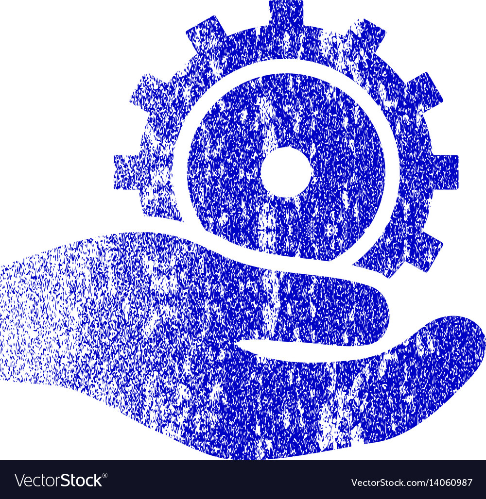 Development service grunge textured icon vector image