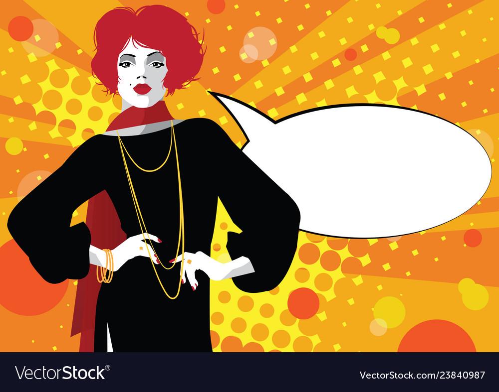 Fashion woman in style pop art