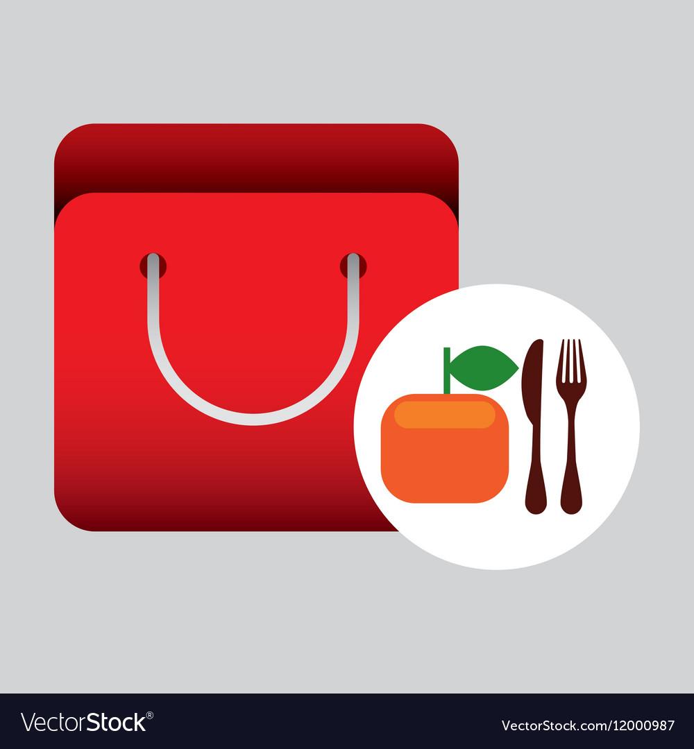 Grocery bag orange nutrition fruit