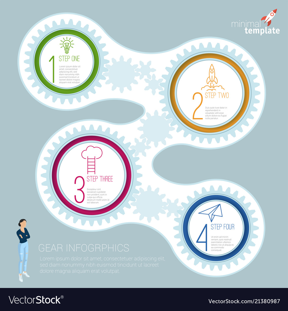 Infographics step by step template