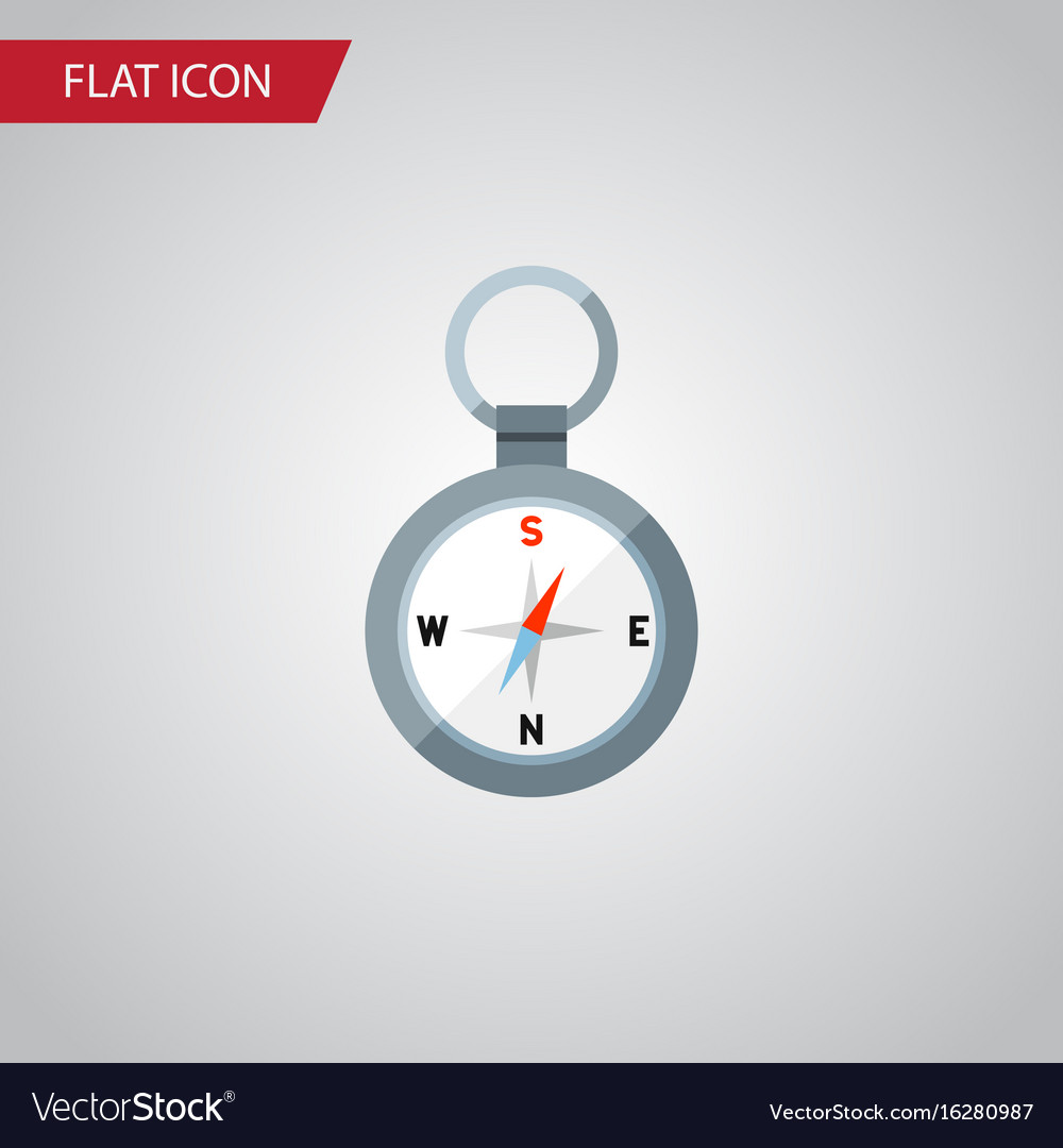 Isolated magnet navigator flat icon direction