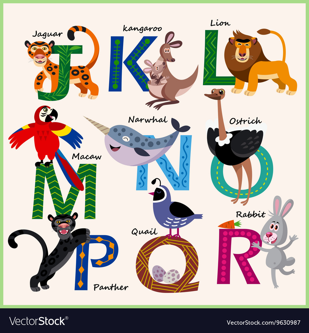 Kids Zoo alphabet with animals