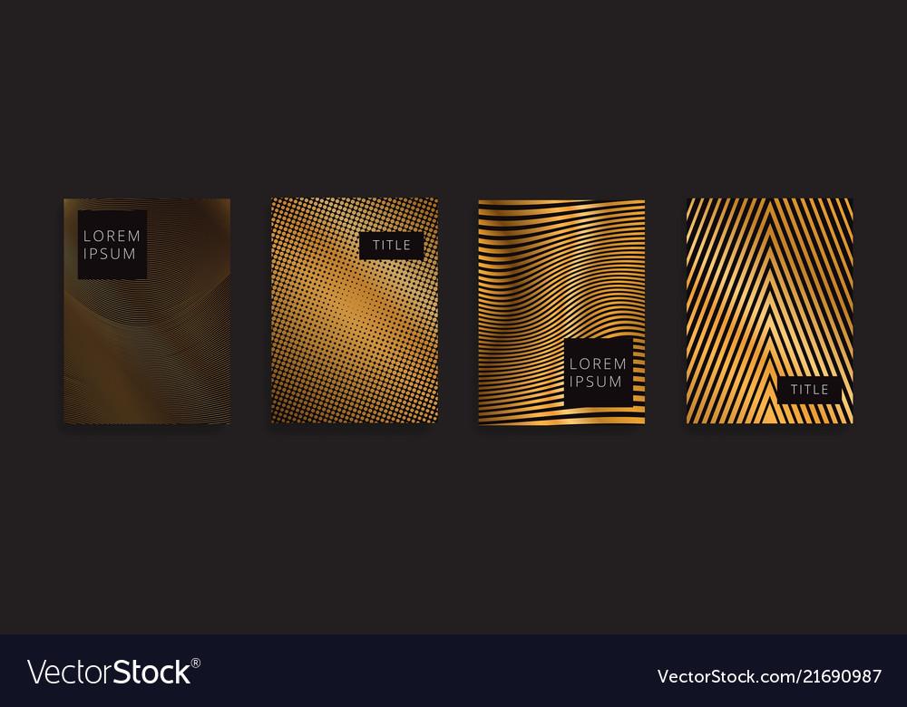 Luxury gold pattern background geometric golden