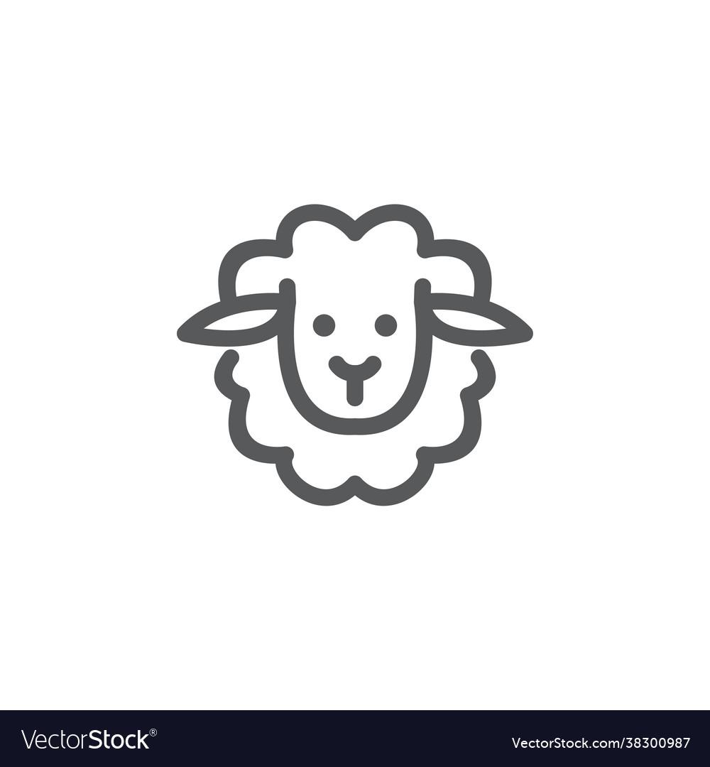 Monoline sheep logo