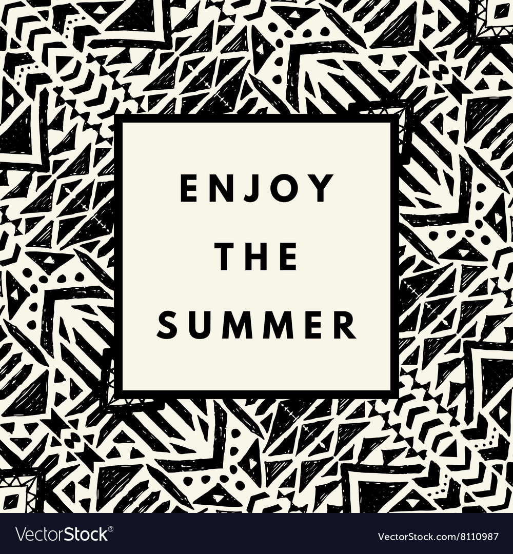 Summer hipster boho background