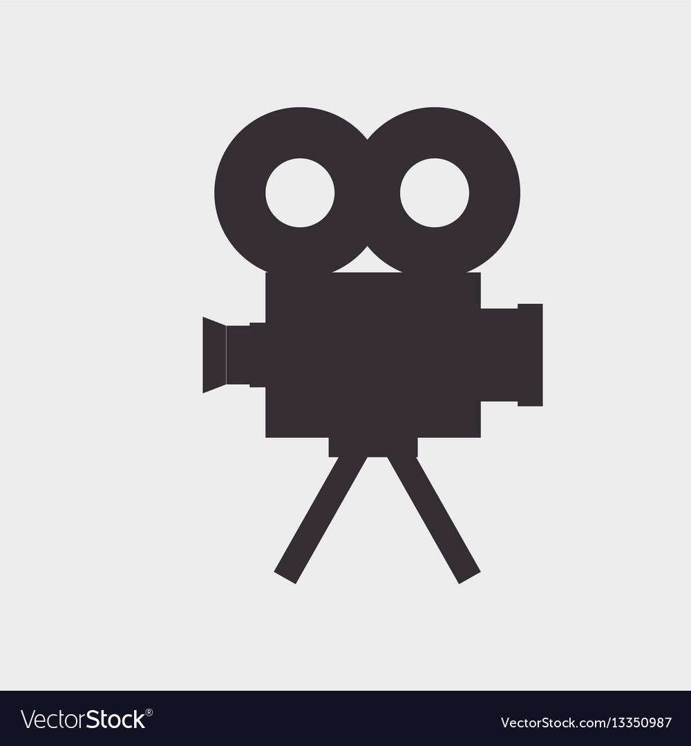 Video camera silhouette icon vector image