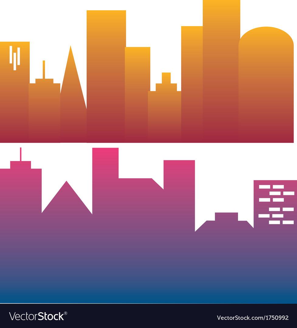 city skylines royalty free vector image vectorstock