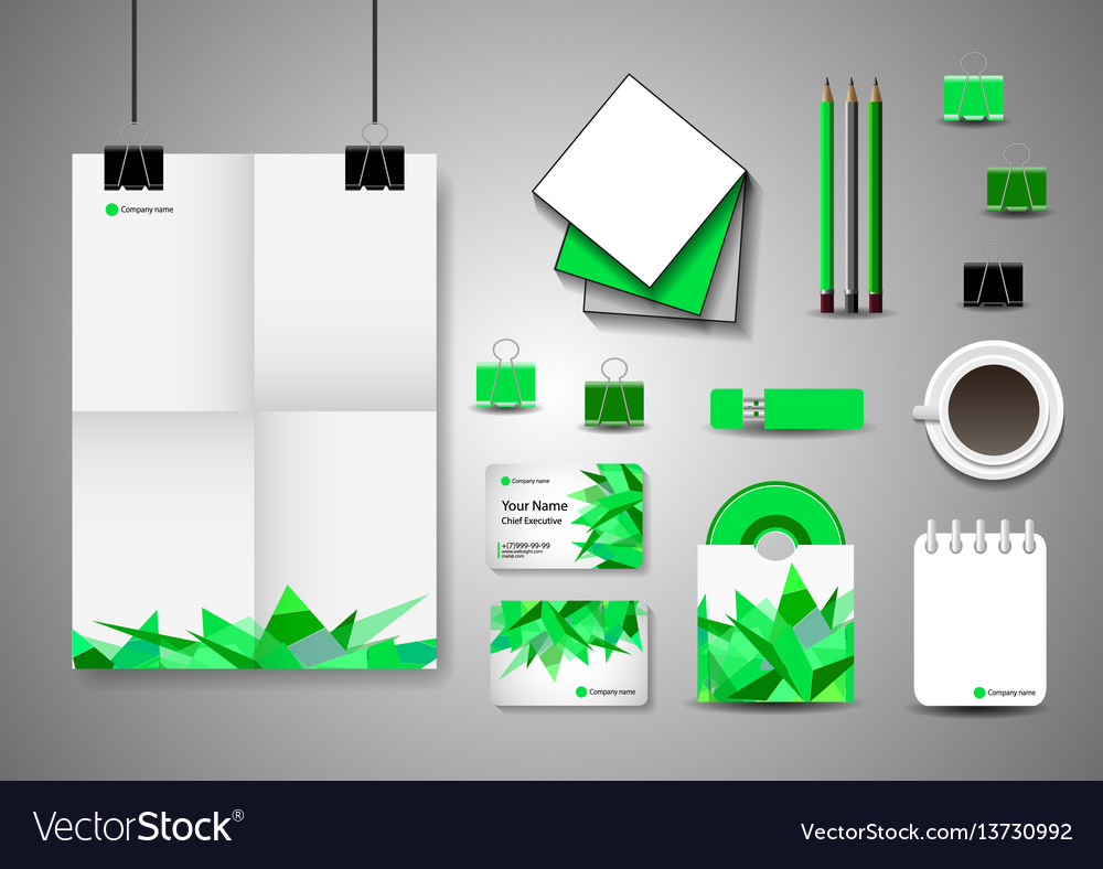 Corporate identity template business stationery