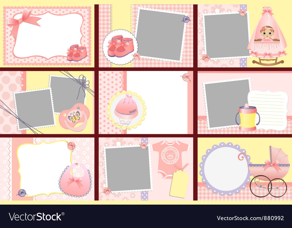 Cute templates for baby photo frames